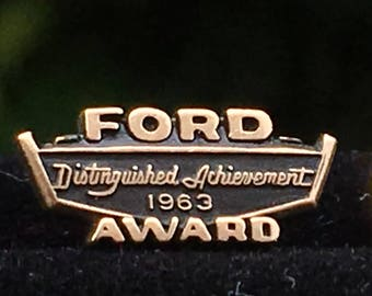 Vintage Ford Award Tie Tac or Lapel Pin 1/10 10k ~ 1963