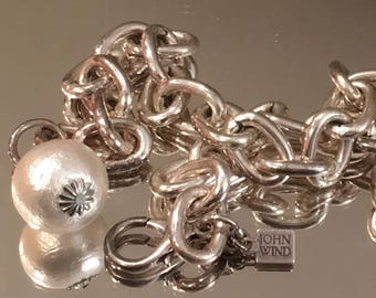 """John Wind """"Cotton Pearl"""" Chain Necklace"""
