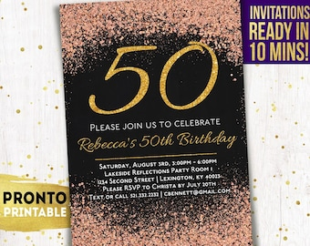 50th Birthday Invitations Party Invitation Invite For Women