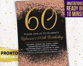 60th Birthday Invitations Party Invitation Invite For Women