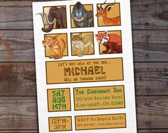 Zoo Birthday Invitations Party Invites
