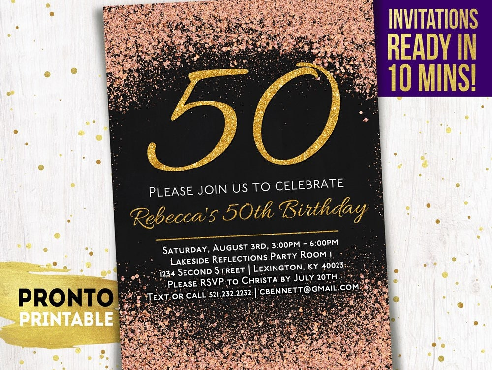 50th Birthday Invitations Party
