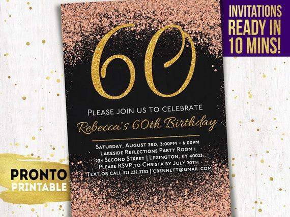 60th Birthday Invitations Party