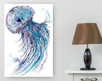 Jellyfish Cross Stitch Pattern, Large Cross Stitch Pattern, 24x36 Cross Stitch Pattern