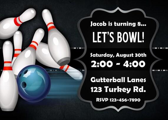 Kostenlos einladungskarten drucken bowling Einladungskarten kostenlos