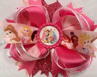 Disney Princess stacked Hairbow