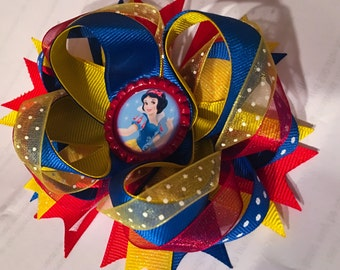 Snow White Stacked Boutique Bow