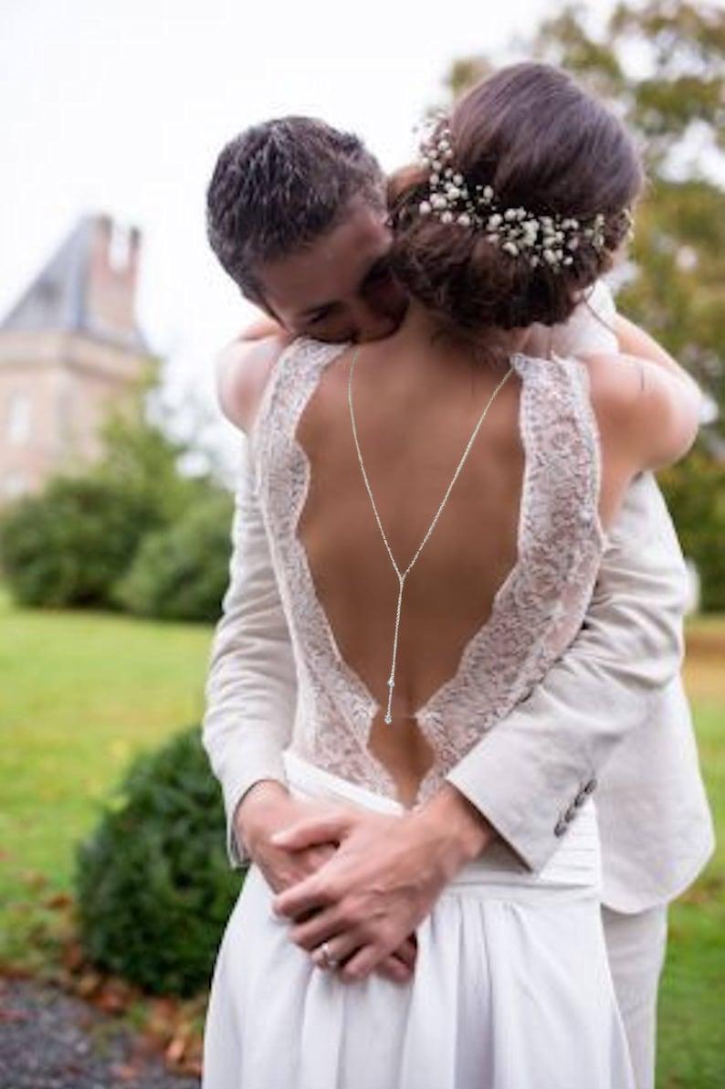 Rückenkette Brautkleid