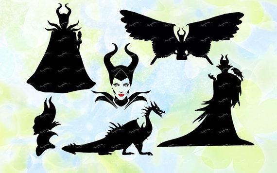 Maleficent Svg Dxf Eps Studio Jpeg Png File For Silhouette Cameo Curio Cutting Machines Instant Download