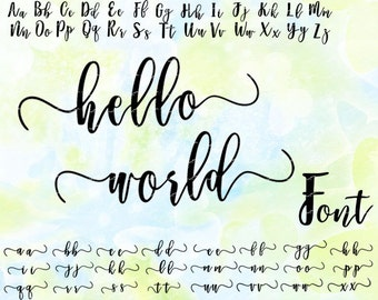 Cursive font svg, dxf, eps, studio v3, png, cdr, file for Silhouette Cameo, Curio, cut file for cutting machines, instant download