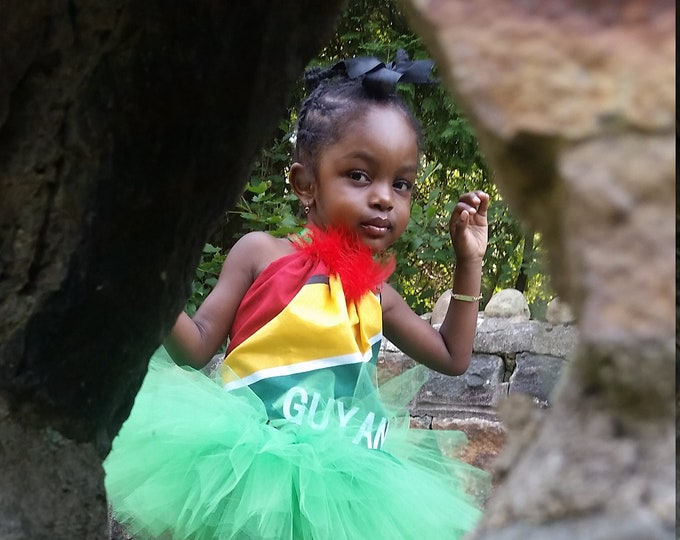 Guyana Flag Tutu-Two Piece Outfit-Labor day tutus