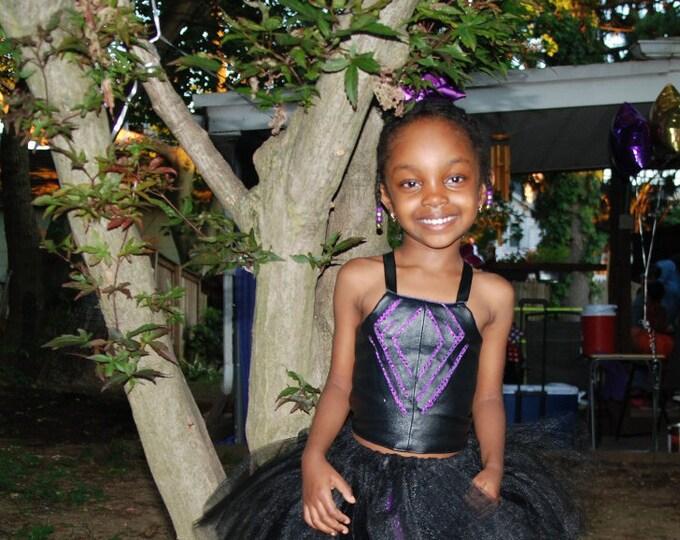 Black Panther tutu dress,black panther dress,black purple tutu dress,glitter tutu,Halloween tutu,superhero tutu dress