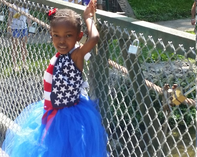 USA Flag Tutu-Two Piece Outfit-4th of July-Girls only