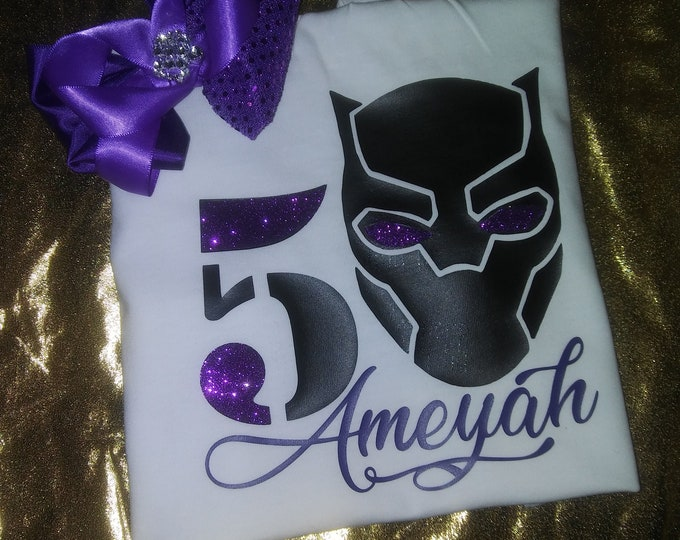 Kids personalized Graphic tee with Matching headbow