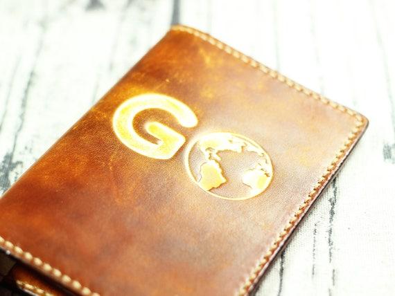Personalisierte Reisepass-Cover Leder-Pass Abdeckung gehen | Etsy
