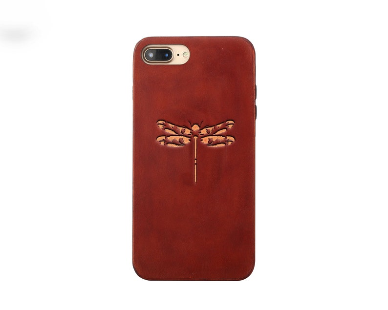 Dragonfly iphone 8 plus case Leather iphone 8 case iPhone 7 case custom  iphone 7 plus case gift for him iphone 6s case iphone X case