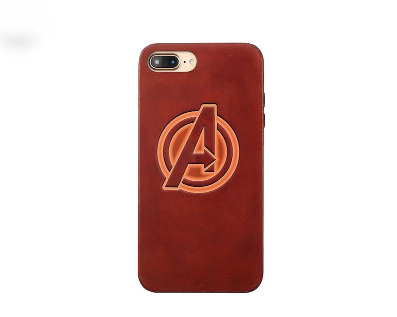 buy popular 5f920 2b68f Avengers iphone X case Leather iphone 8 case Custom iphone 7 case initial  iphone 7 plus case monogram iphone 6s case iphone 8 plus case