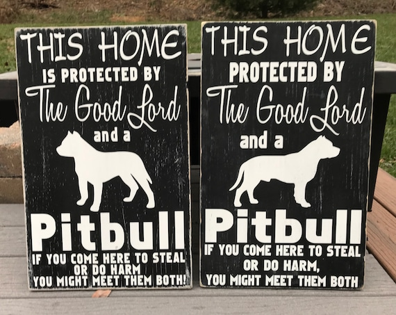 This HOME PROTECTED by the GOOD LORD and a BEAGLE Aluminum Sign 8 X 12