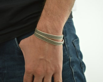 Antique silver DOTTED LINES cuff stacking bracelet, Arm Candy, Bohemian Cuff Bangle Bracelet Jewellery, Gift for her, US wrist 7-9 inches