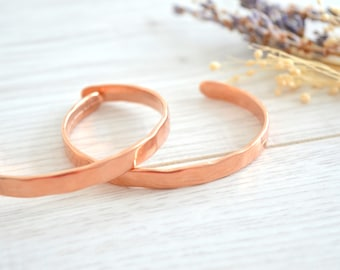 Rose Gold hammered bangle, Rose Gold cuff stacking bracelet, Bohemian Delicate Minimalist Hammered Cuff Bangle, Free People Style Jewellery