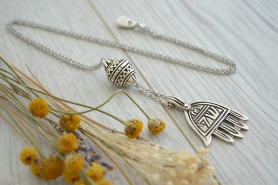 Lariat Tuareg Y shaped Necklace Contemporary jewelry Silver chain Tuareg choker necklace Boho Bohemian Delicate Contemporary Necklace