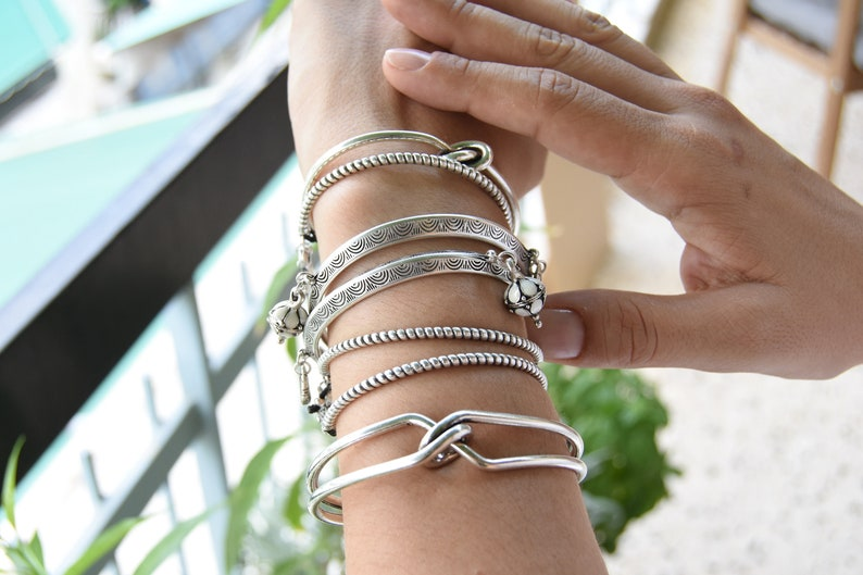 Stacking Wristband Bracelets,Cuff Party Antique Silver circle engraved cuff Bohemian Delicate Minimalist Cuff Free People Style Jewellery