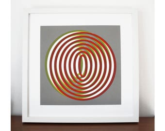 Moving Forwards, screen print, modernist style, abstract art,  limited edition silkscreen print, geometric art screen print