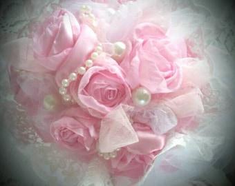 Bouquet de roses shabby chic