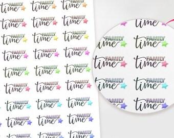 Family Time Planner stickers for Erin Condren, Plum Paper, Filofax, Kikki K, Happy Planner and more! / Family / Plan