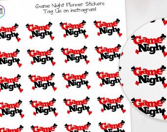 Game Night Planner Stickers  for Erin Condren Life Planner, Kikki K, Happy Planner, TN, Filofax, Cards, Blackjack, Casino