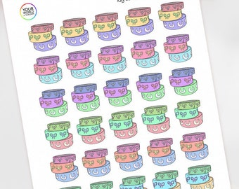Washi Tape 2.0 Planner Stickers for use with Erin Condren, Happy Planner, Kikki K, Travelers Notebook, Bujo, Filofax etc, Bow, Bows