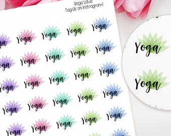 Yoga Planner Stickers for Erin Condren, Happy Planner, Plum Paper, Filofax, TN etc, Fitness, Health, Mental Wellbeing, Gym