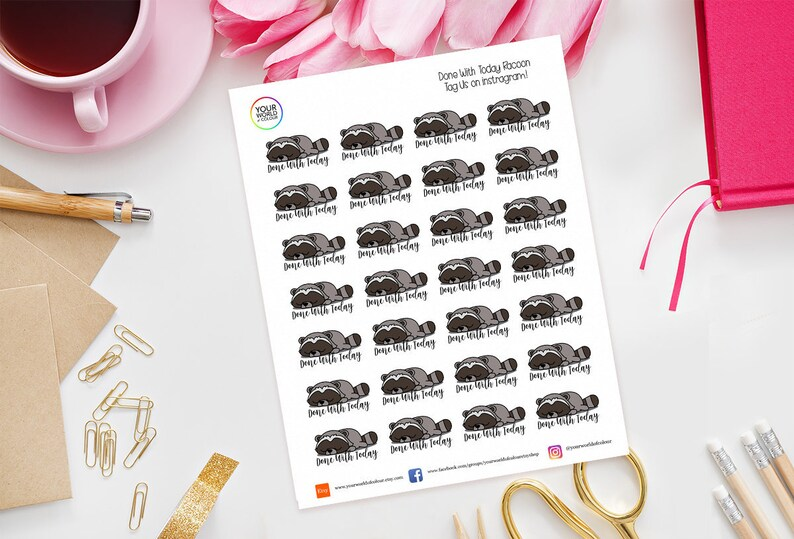 Done with today Planner Stickers perfect for Erin Condren image 0