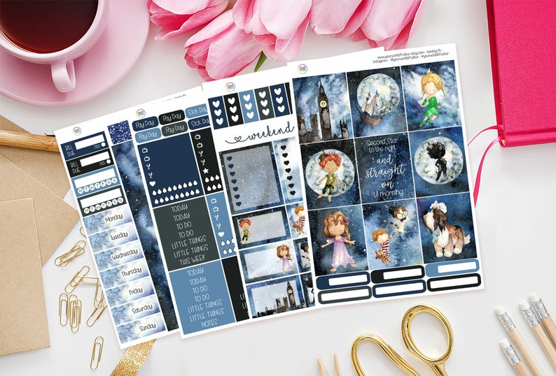 Second Star Planner Sticker Kit for use with Erin Condren image 0