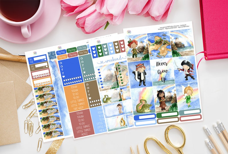 Neverland Planner Sticker Kit for use with Erin Condren image 0