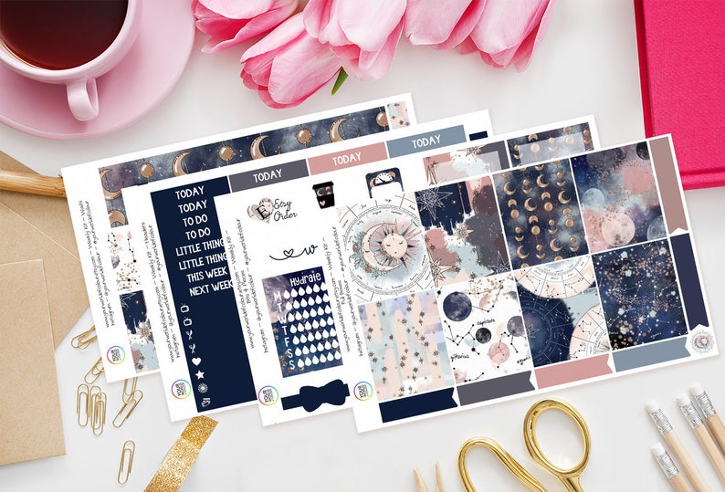Beyond The Stars Planner Stickers Weekly Kit perfect for Erin Full Kit