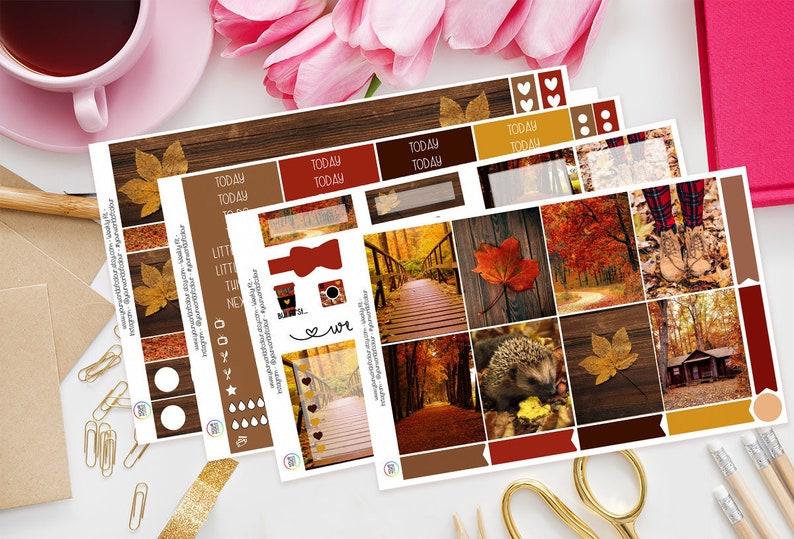Fall Into Autumn  Planner Sticker Kit for Erin Condren  4 Sheet Full Kit