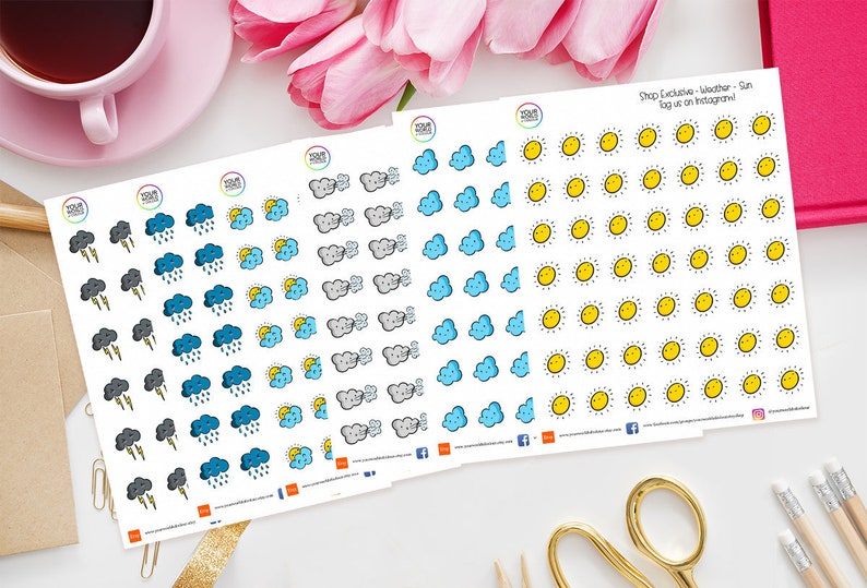 Shop Exclusive Weather Planner Stickers for use with Erin image 0