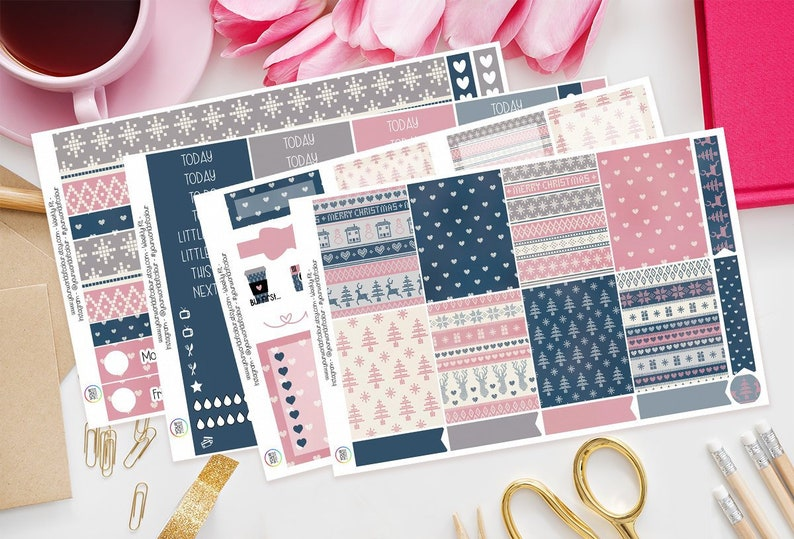 Northern Comforts Planner Sticker Kit for use with Erin 4 Sheet Full Kit