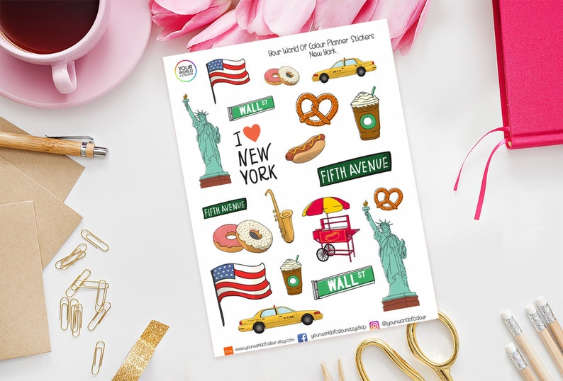 New York Planner Stickers perfect for Erin Condren Life image 0