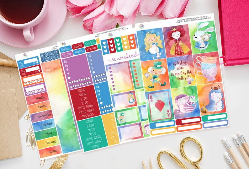 All Mad Planner Sticker Kit for use with Erin Condren image 0
