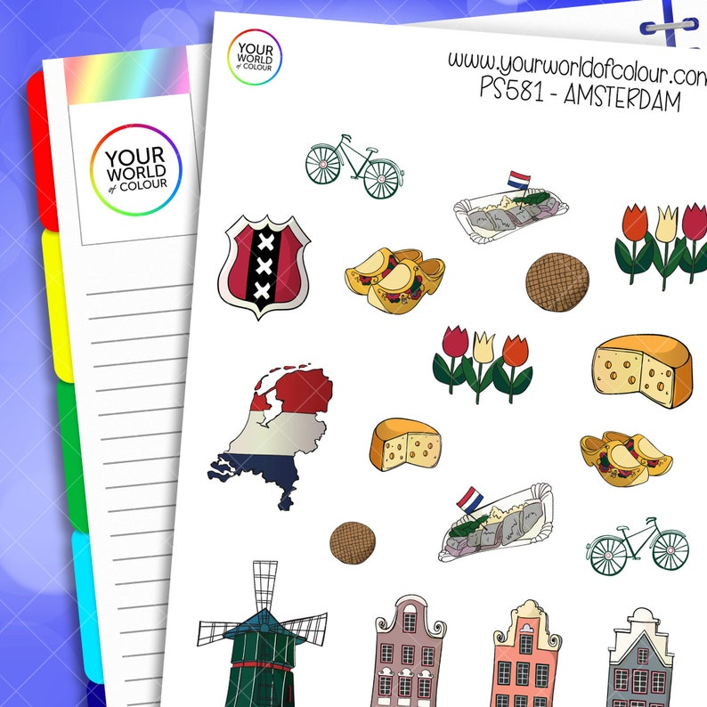 Amsterdam Planner Stickers perfect for Erin Condren Life image 0