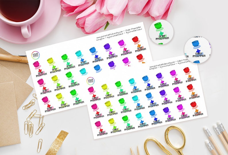 Order Prescription / Collect PrescriptionPlanner Stickers image 0