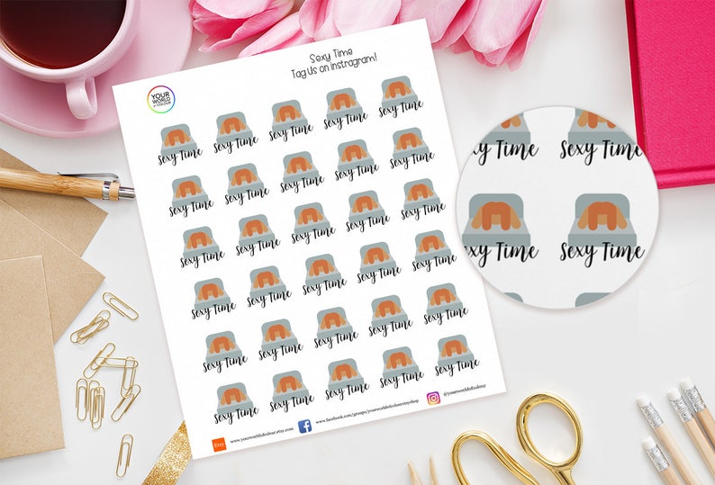 Sexy Time Planner Stickers For Erin Condren Happy Planner image 0