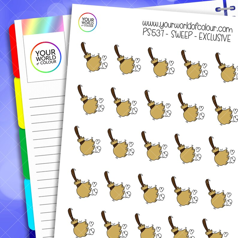Sweep Planner Stickers for use with Erin Condren Life Planner image 0