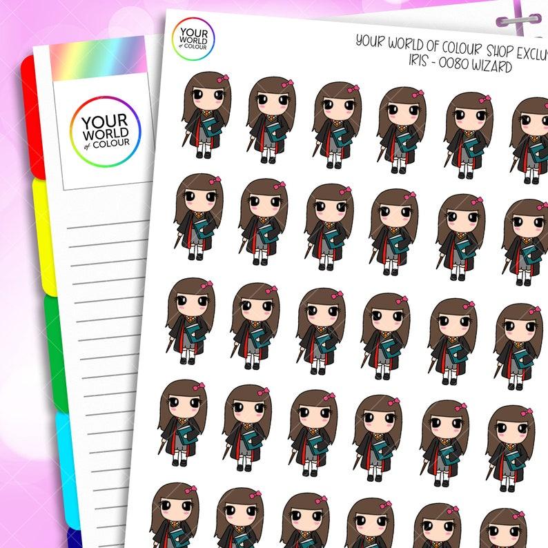 Wizard Planner Stickers for Erin Condren Life Planner Happy image 0