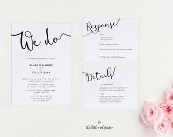 We do Calligraphy Wedding invitation stationery, beautiful invite for a modern wedding. PDF printable at home