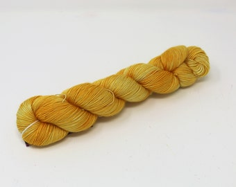 Hand Dyed Yarn - Superwash - Finger Weight Yarn - 100% Merino - Single Ply - One Ply - Tonal - 'Canola'