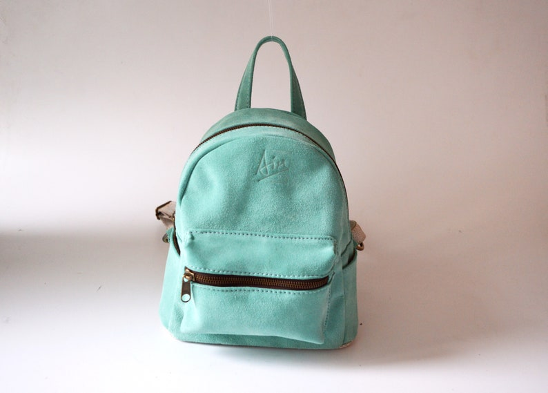 fcaafbac07 Mini backpack Mint Leather backpack Suede Backpack women Small backpack  Best sel... Mini backpack Mint Leather backpack Suede Backpack women Small  backpack ...