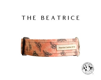 The Beatrice : Floral and Bee Dog Collar